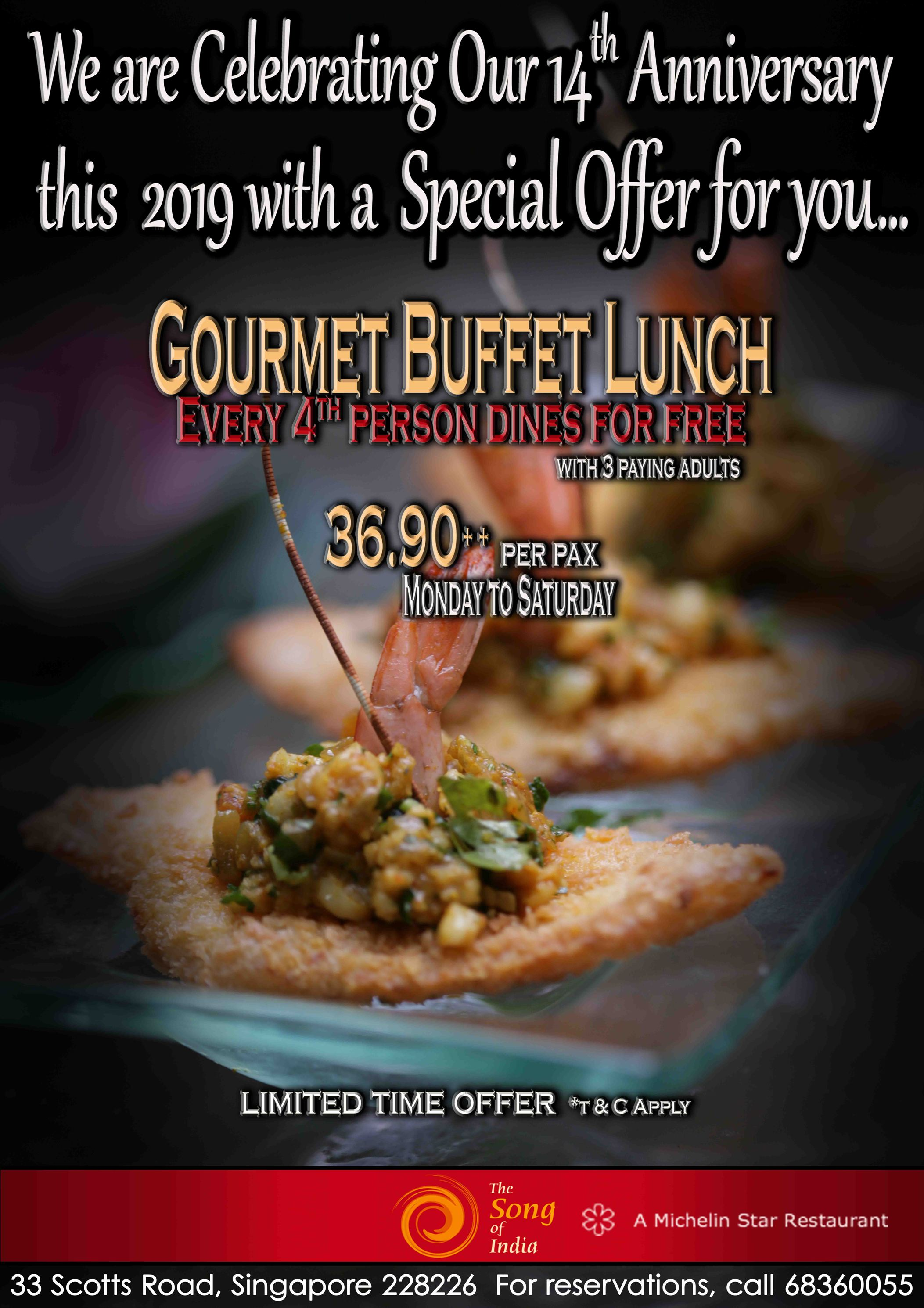Buffet 4 for 1 2019 low